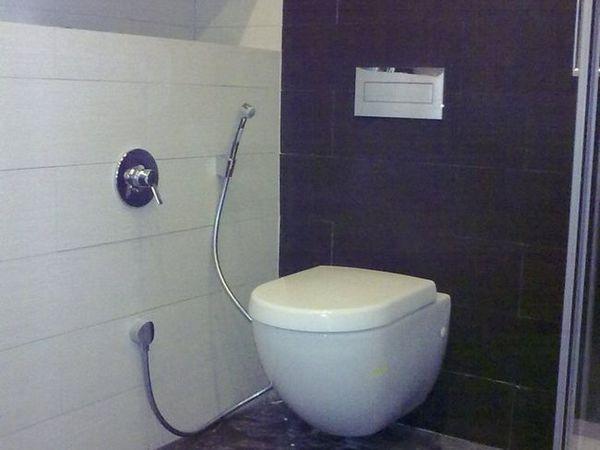 Duș igienic în toaletă