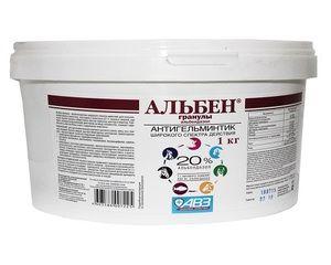 Caracteristicile utilizării medicamentului anthelmintic Alben în medicina veterinară