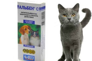 Instrucțiuni de utilizare a lui Alben pentru câini și pisici