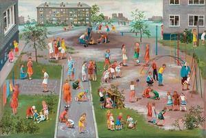 Copiii se joacă la școală
