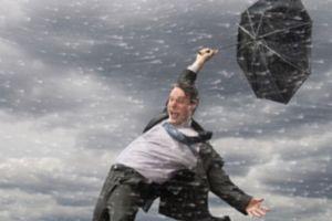 Vânt puternic în timpul dușului - poziția dvs. este instabilă