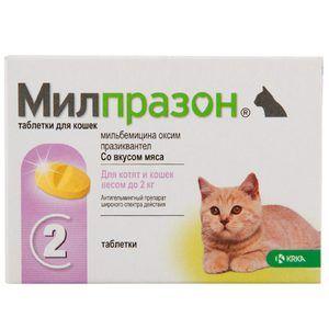 Tablete de Milprazone pentru pisici și câini