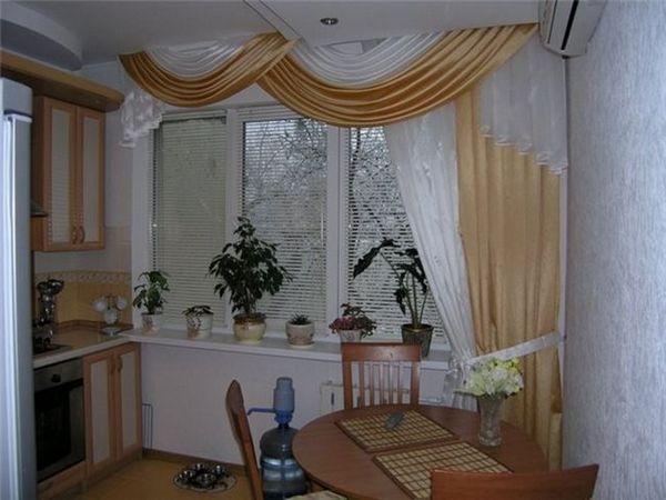 Alegerea perdele pentru fereastra bucătăriei