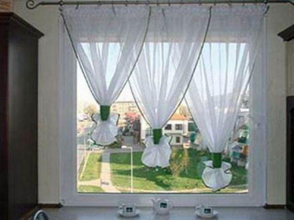 Ideea pentru o fereastră de bucătărie