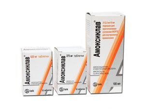 Antibiotic amoxiclav
