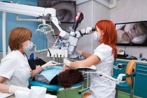 Utilizarea unui microscop în stomatologie