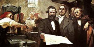 Reprezentări ale lui Marx pe bază și suprastructură