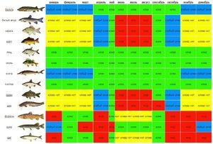 Calendarul mușcăturilor de pește