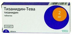 Comprimatele de Tizanidină-Teva ajută la osteocondroză