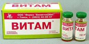 Vitam - complex pentru animale, instrucțiuni de utilizare